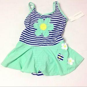 Other - Girl Swim Wear One Piece Size 16 Blue Striped